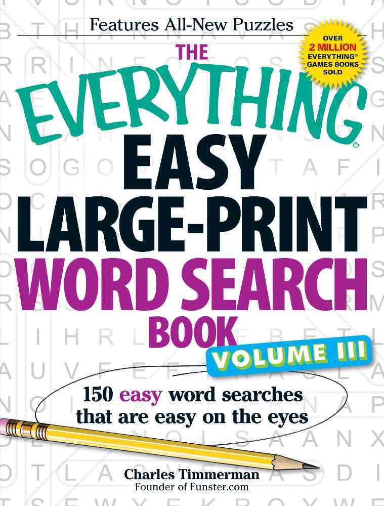 The Everything Easy Large-Print Word Search Book By Timmerman, Charles